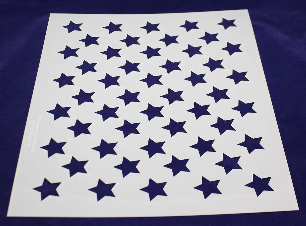 Persnickety image within 50 star stencil printable