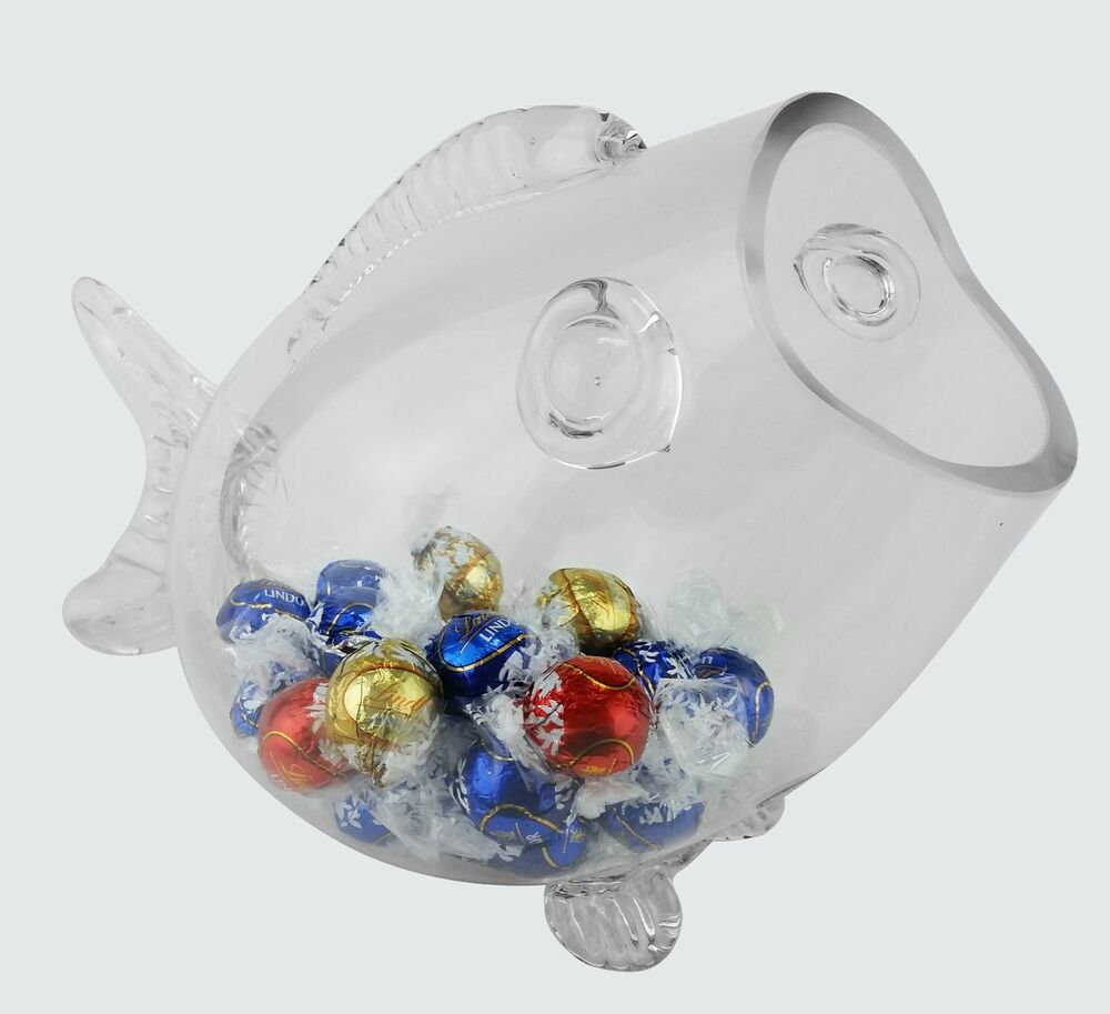 Glass fish shaped candy aquarium bowl jar valentine 39 s for Glass fish bowls