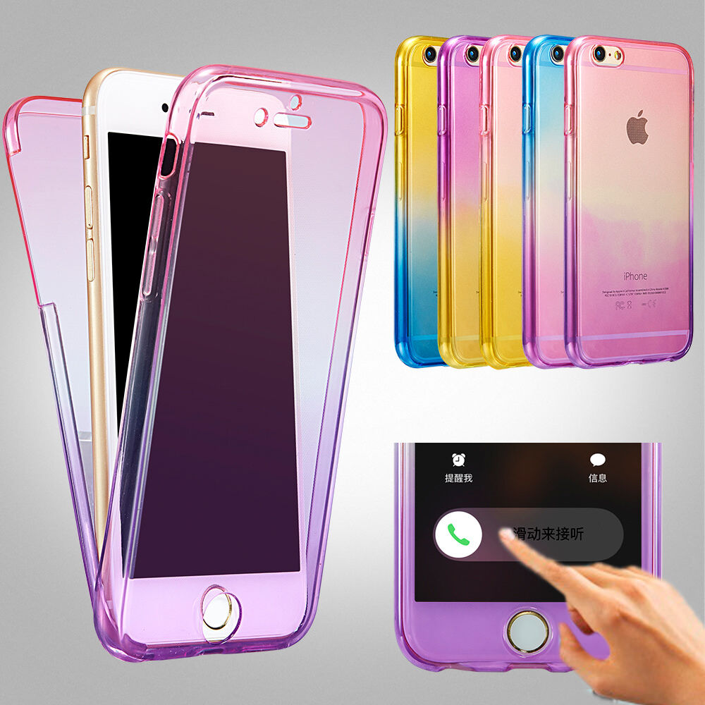 Shockproof TPU 360° Protective Clear Case Cover For Apple ...