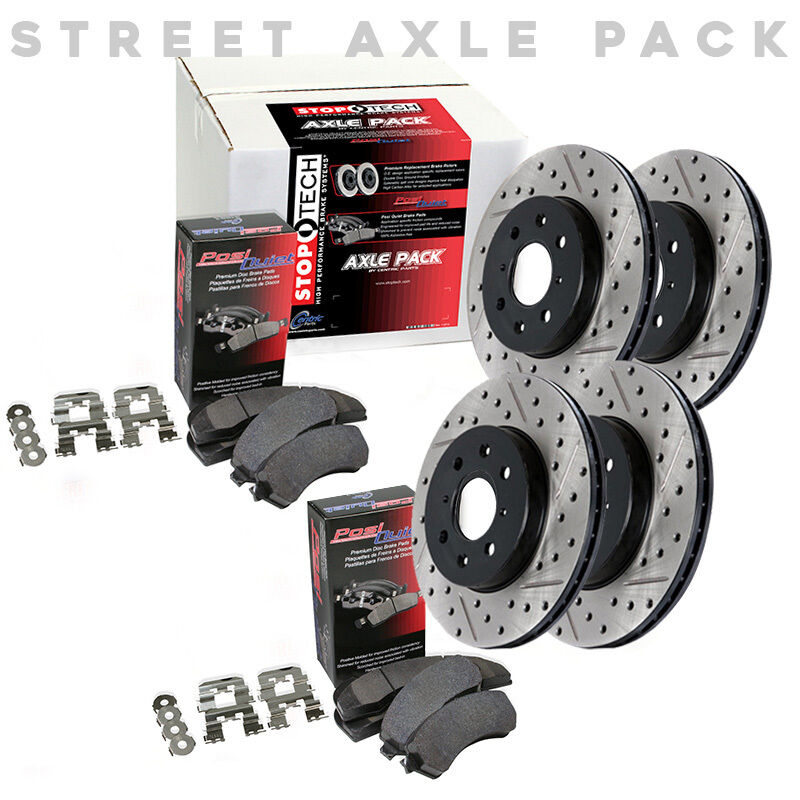 STOPTECH Hi-Performance Rotors+Pads Kit For Acura 04-08 TL