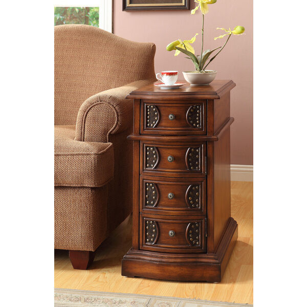 table oak finish side table with drawers coffee sofa end tables living room new ebay. Black Bedroom Furniture Sets. Home Design Ideas