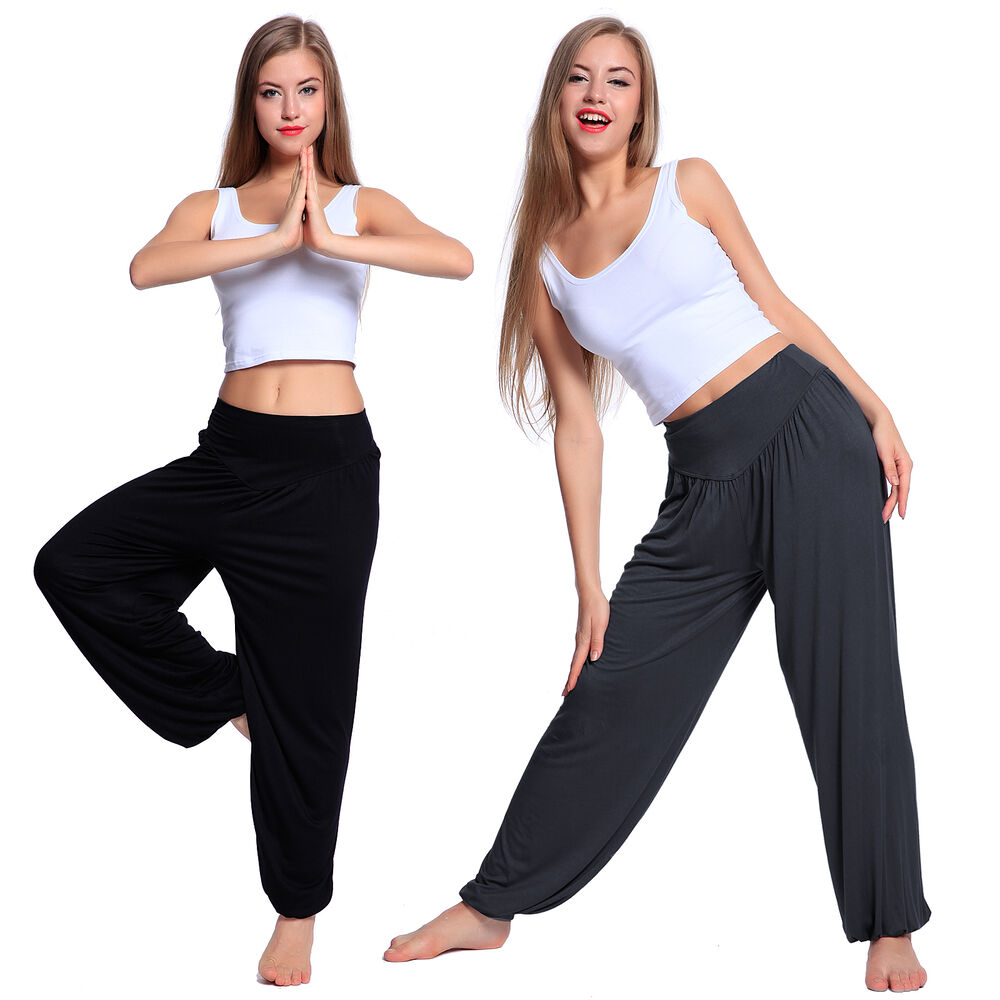 Womens Yoga Gym Sports Tracksuit Athletic Lounge Pants