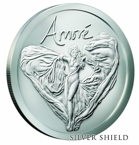 2016 Amore Bu Silver Shield 1oz 999 In Hand Sbss Art