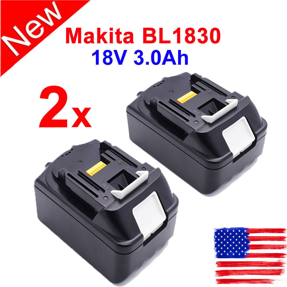 2pcs 18v 3 0ah battery for makita lxt400 bl1815 bl1830 bl1835 bl1845 lithium ion ebay - Batterie makita 18v ...