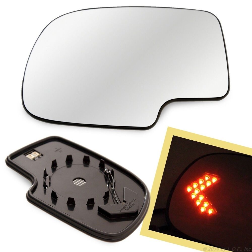 Heated Mirror Glass W/ Turn Signal Left LH Driver Side For