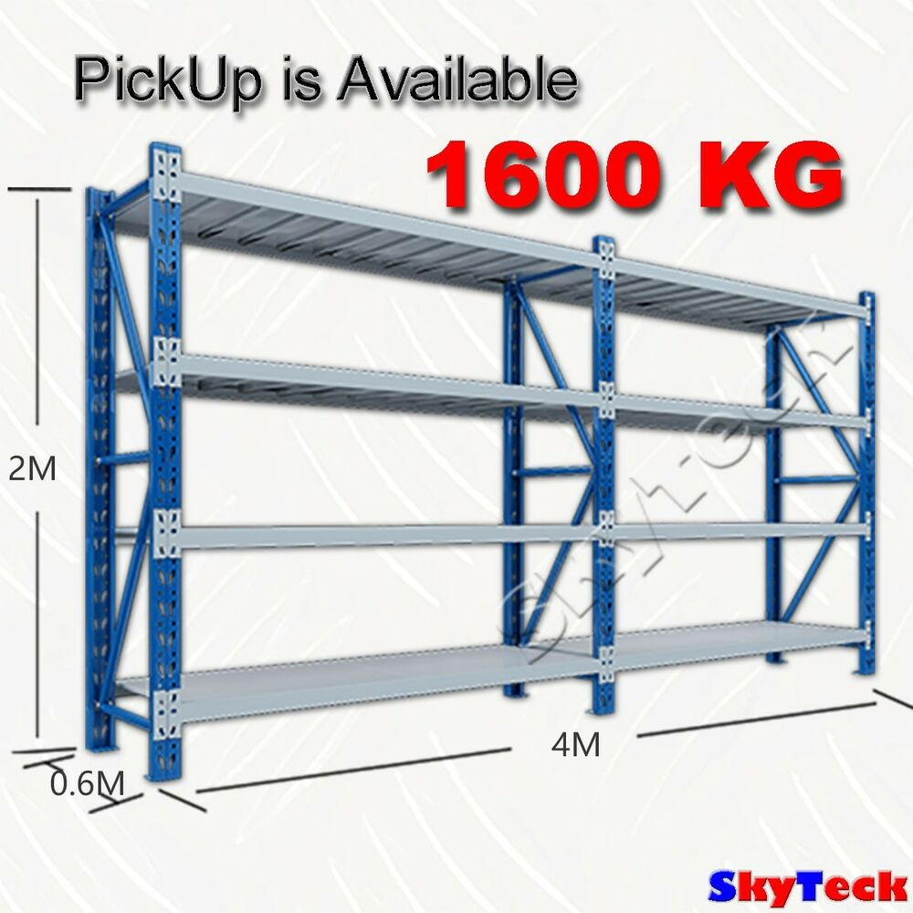4m warehouse metal shelving tool racking system 1600kg 1 for Warehouse racking design software