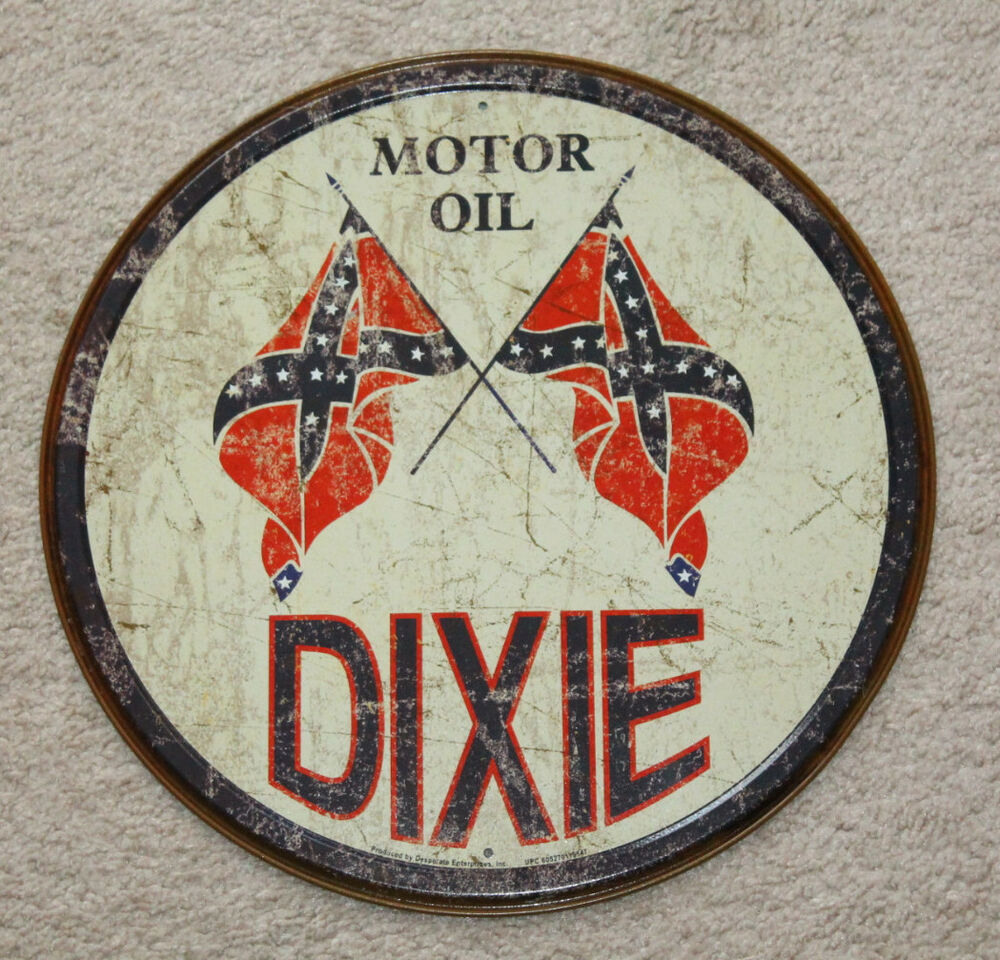 Dixie Motor Oil Co 12 Quot Round Vintage Style Metal Signs