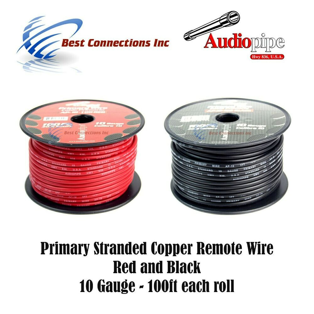 Parallel Wire Red And Black : Gauge black red ft each power ground remote wire