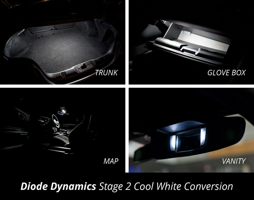 Vanity Light Conversion Kit : 2015 2016 Mustang Interior LED Conversion Kit Trunk Glove Box Map Vanity Stage 2 eBay