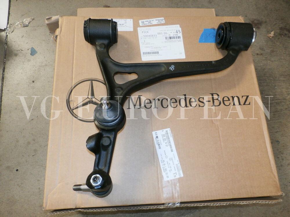 Mercedes benz w220 s class genuine left front lower for Mercedes benz control arm