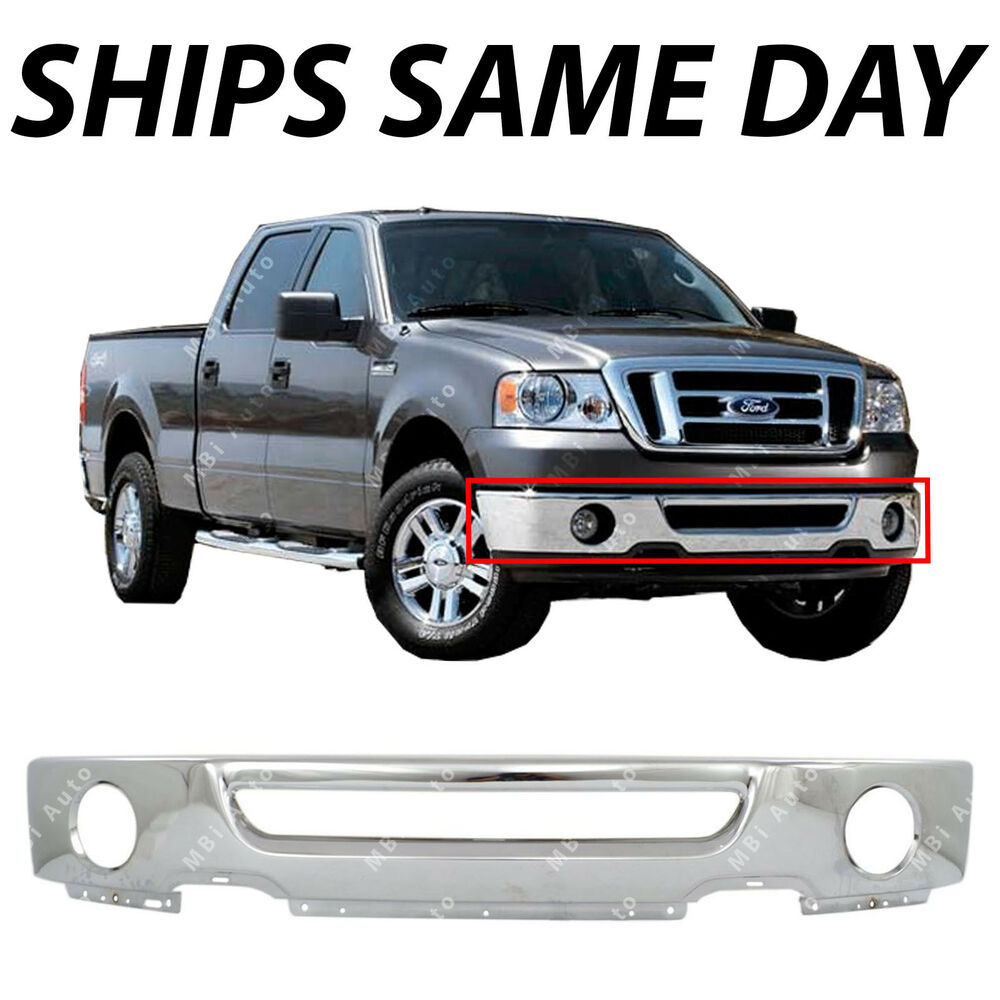 Chrome Steel Front Bumper Face Bar For 2006 2007 2008