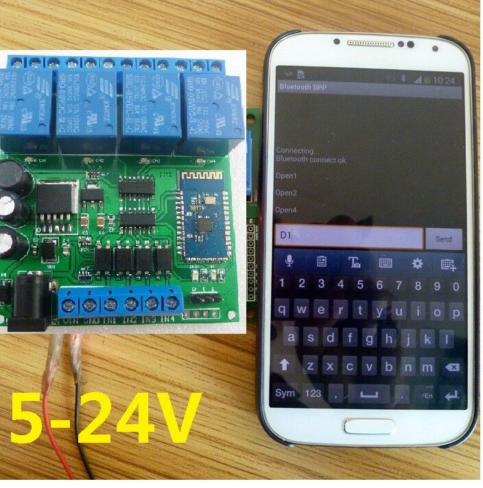 New Dc 5 24v 4ch Bluetooth Android Remote Control Relay