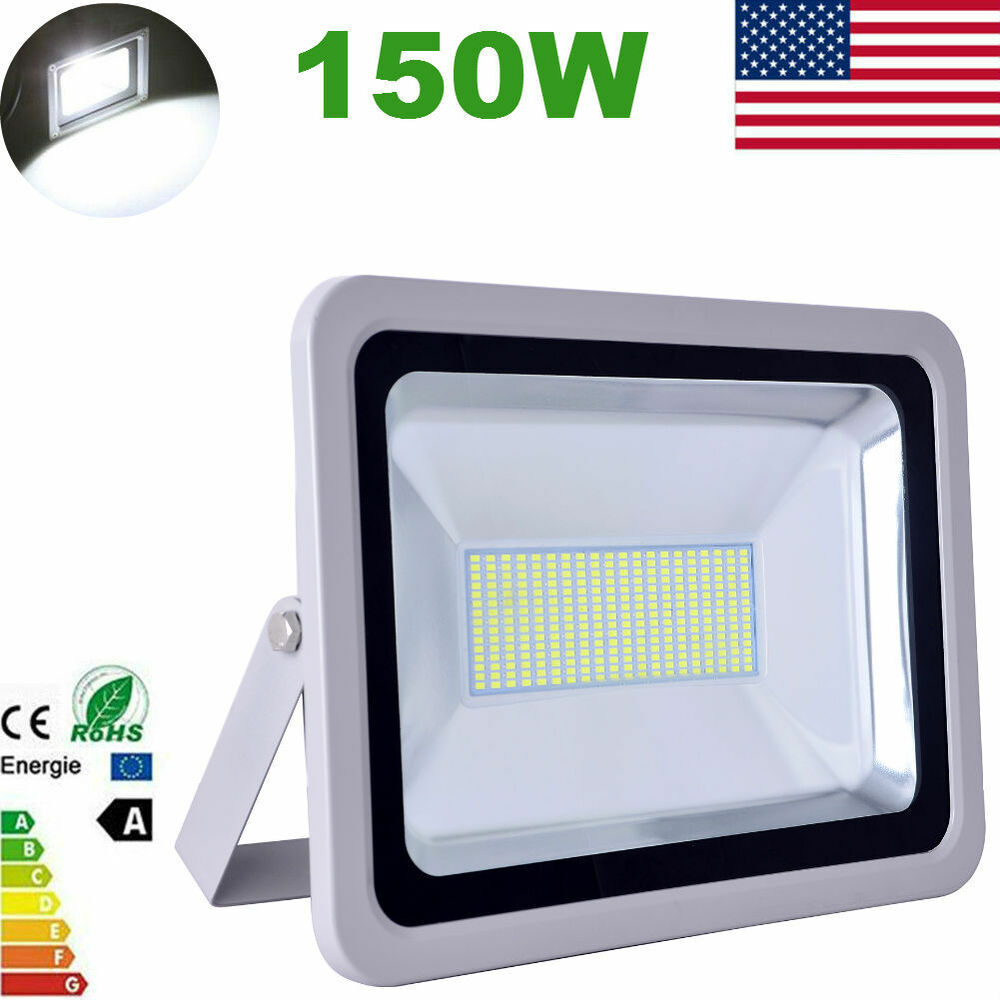 Led Flood Light Outdoor 150w: 150W Cool White LED SMD Flood Light Outdoor Garden