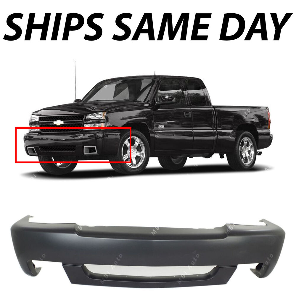 new primered front bumper cover for 2003 2007 chevy silverado 1500 ss 03 07 ebay. Black Bedroom Furniture Sets. Home Design Ideas