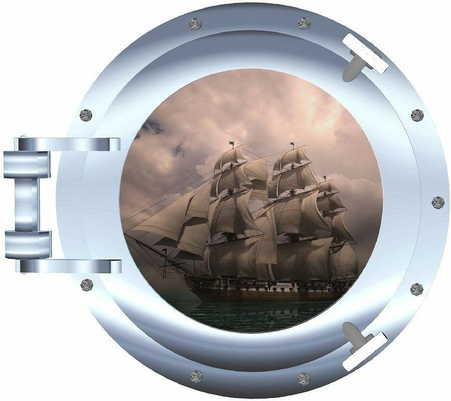 Pirate Ship Porthole Decal Camper Rv Motor Home Mural