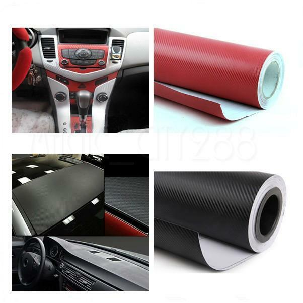 127cmx30cm carbon fiber vinyl wrap stickers car interior accessorie panel ebay. Black Bedroom Furniture Sets. Home Design Ideas