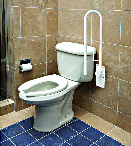 Toilet grab bar safety rail frame bathroom support - Handicap bars for bathroom toilet ...