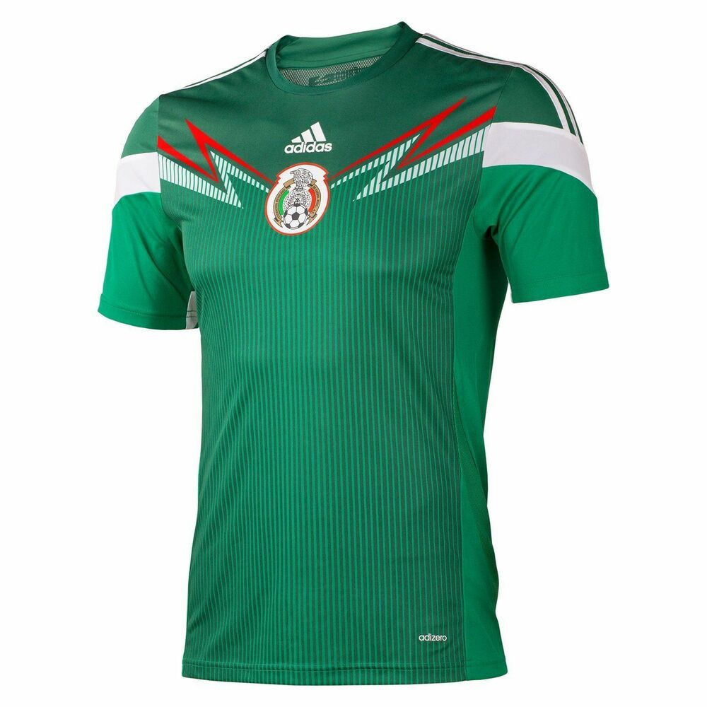 d1ae6a442 Details about ADIDAS MEXICO AUTHENTIC HOME JERSEY FIFA WORLD CUP BRAZIL  2014.