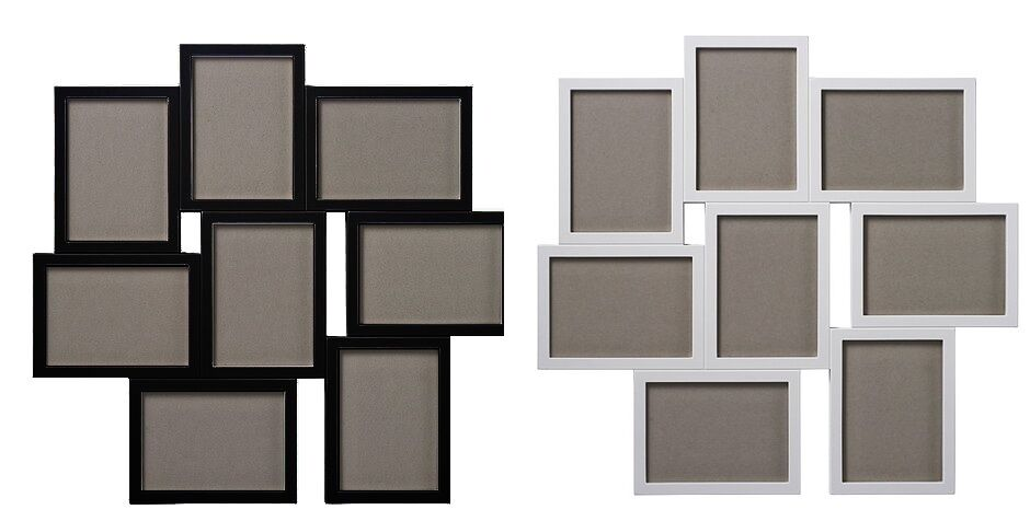 ikea collage rahmen f r 8 fotos 13x18 cm bilderrahmen multirahmen galerie wei ebay. Black Bedroom Furniture Sets. Home Design Ideas