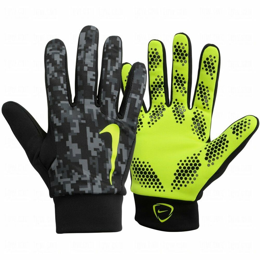 Nike Soccer Gloves: NIKE HYPERSHIELD FIELD PLAYER GLOVES TRAINING SOCCER Black