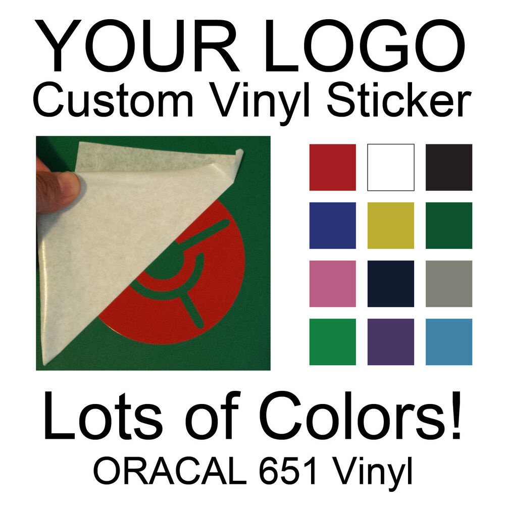 Custom Vinyl Logo Sticker Personalized Decal Die Cut