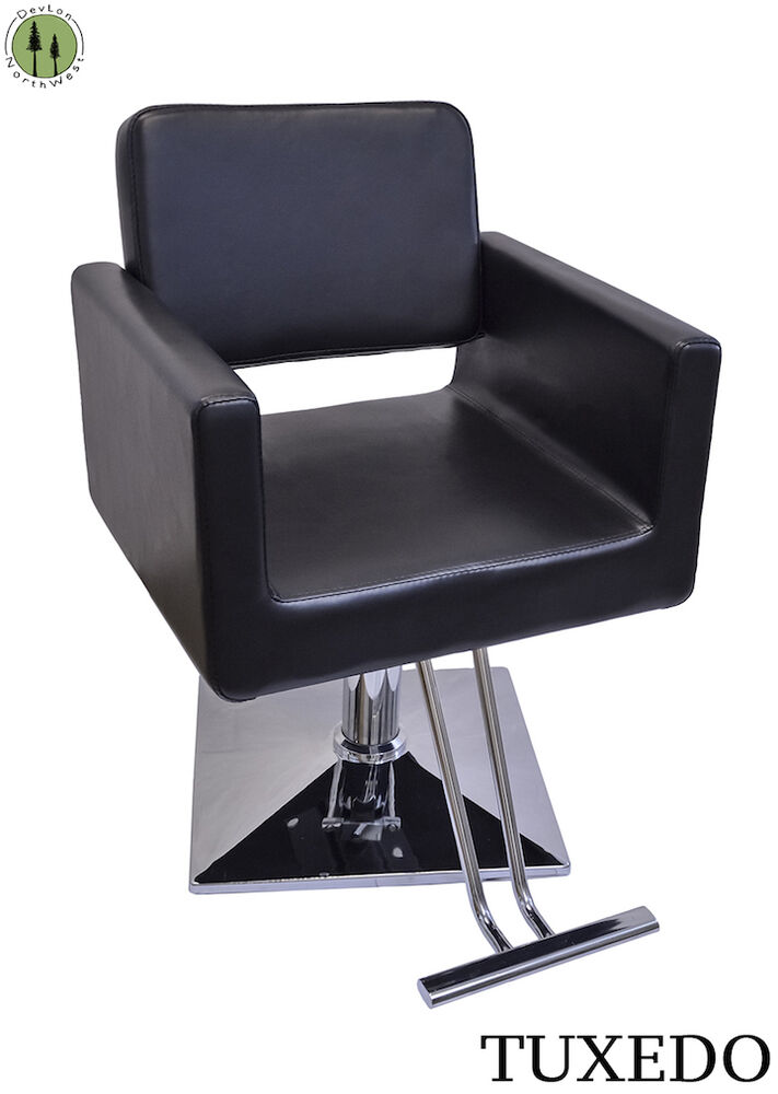 styling chair black hydraulic lift square base hairdressing furniture