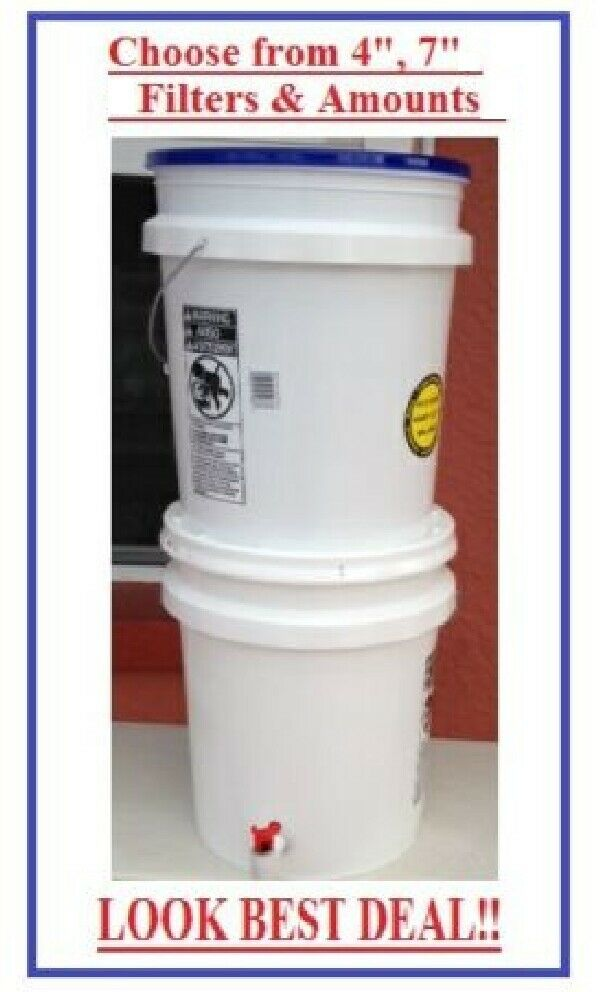 Gravity Water Feed Filter System Ceramic 2 5 Gallons