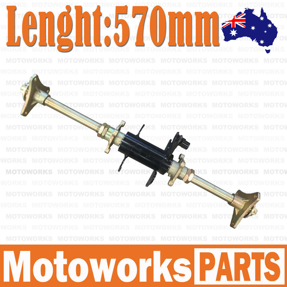 Go Kart Front Axle Assembly : Rear axle assembly carrier hubs cc quad