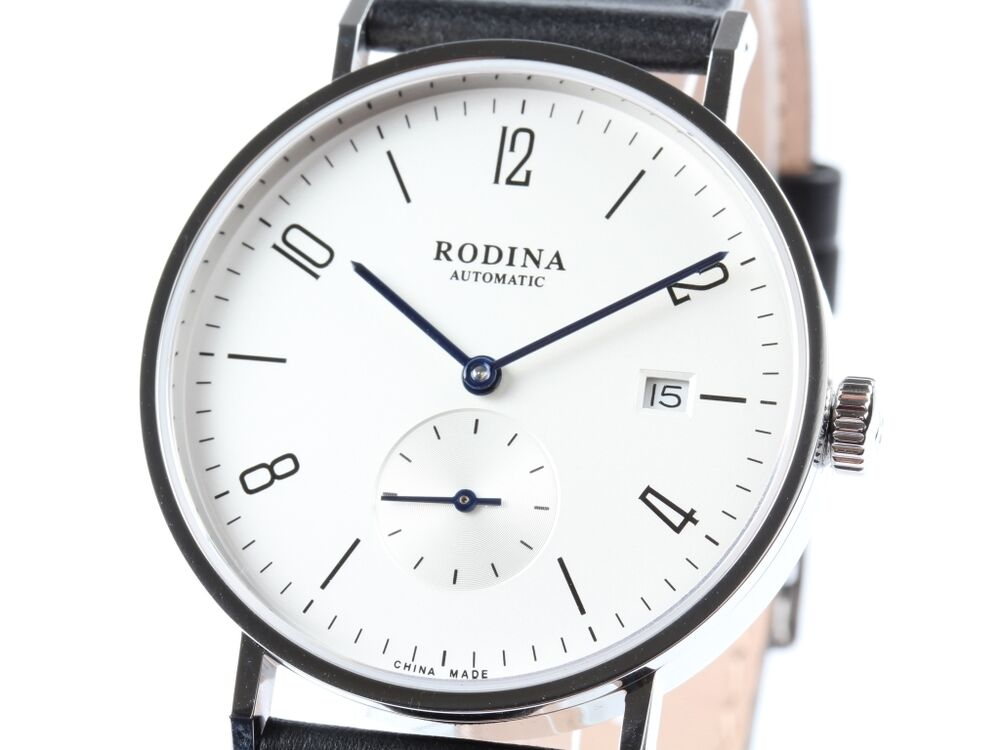 Classic rodina r005gb automatic watch by sea gull st1731 movement bauhaus watch ebay for Auto movement watches