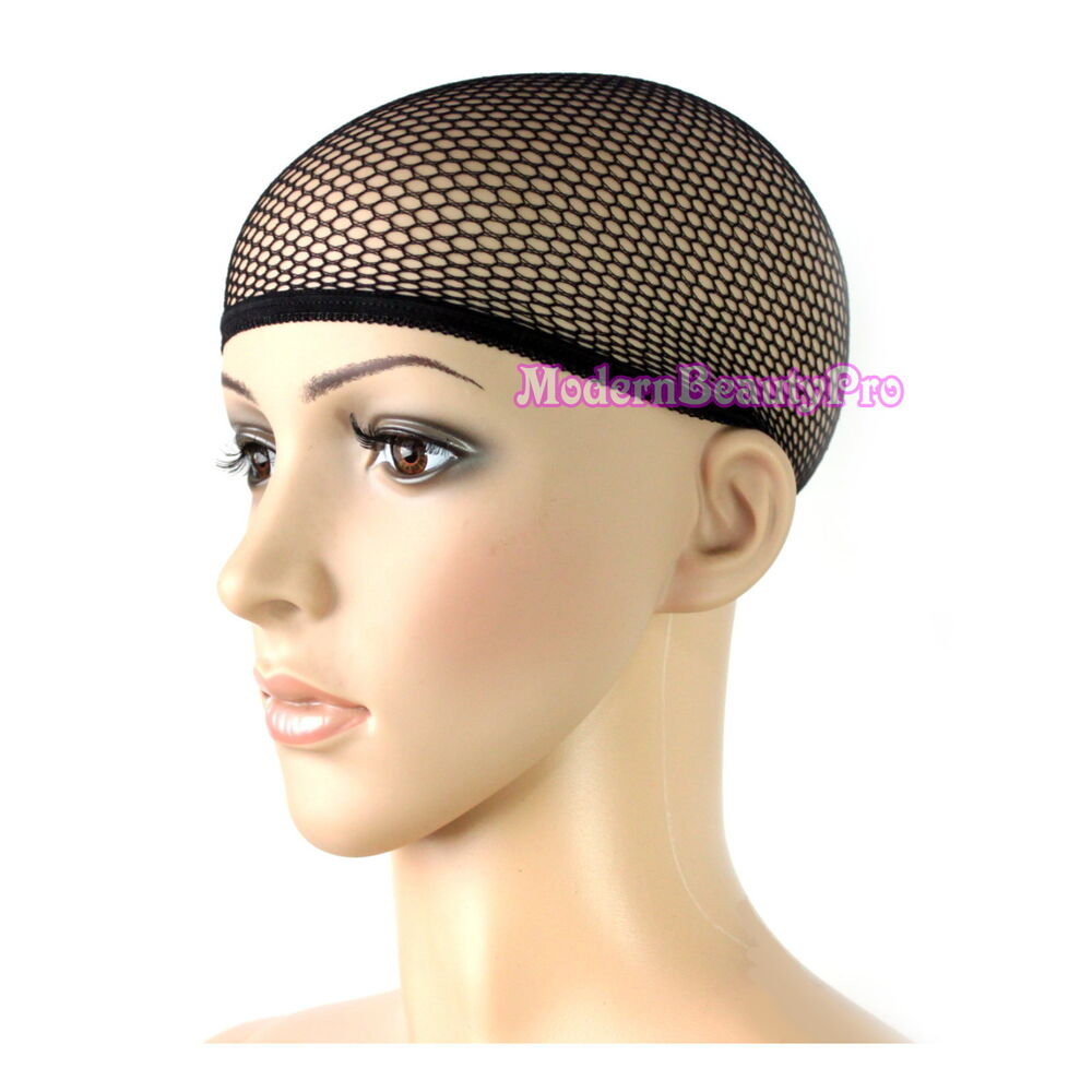 Cool Mesh Stretch Fabric Breathable Liner Wig Cap Black