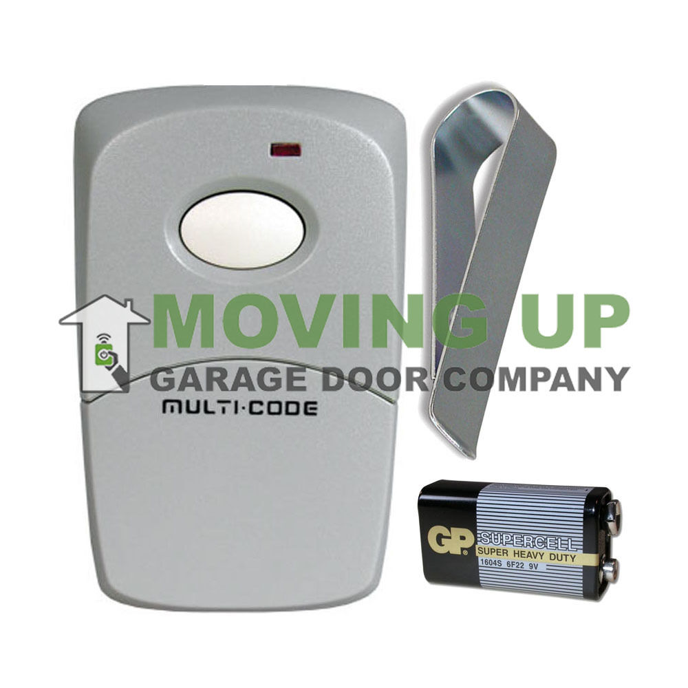 Digit garage and gate door opener remote control