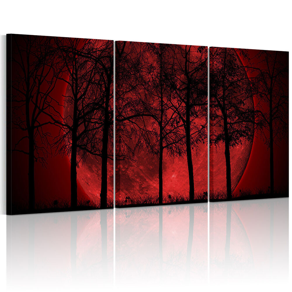 Hd Canvas Prints Home Decor Wall Art Painting Picture Red Moon Unframed L22 Ebay