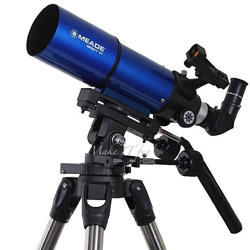 meade astronomical telescope refractor 80 mm altazimuth