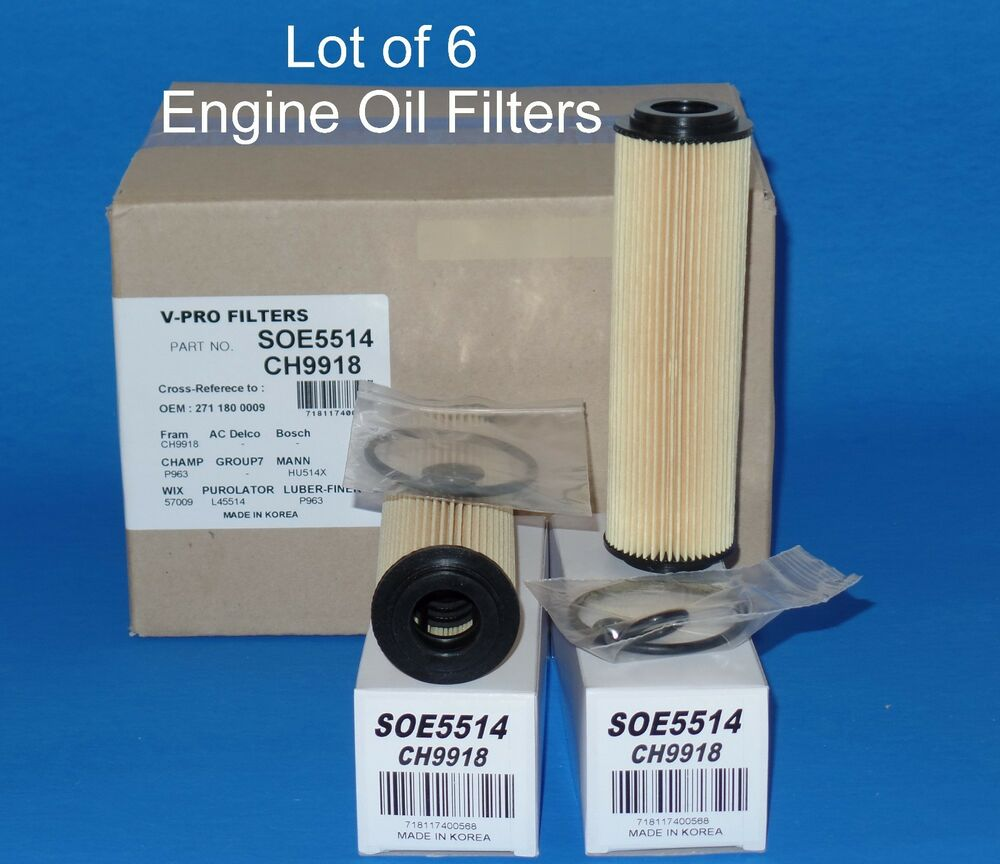 Lot of 6 oil filter made in korea soe5514 fits mercedes for Mercedes benz oil filters