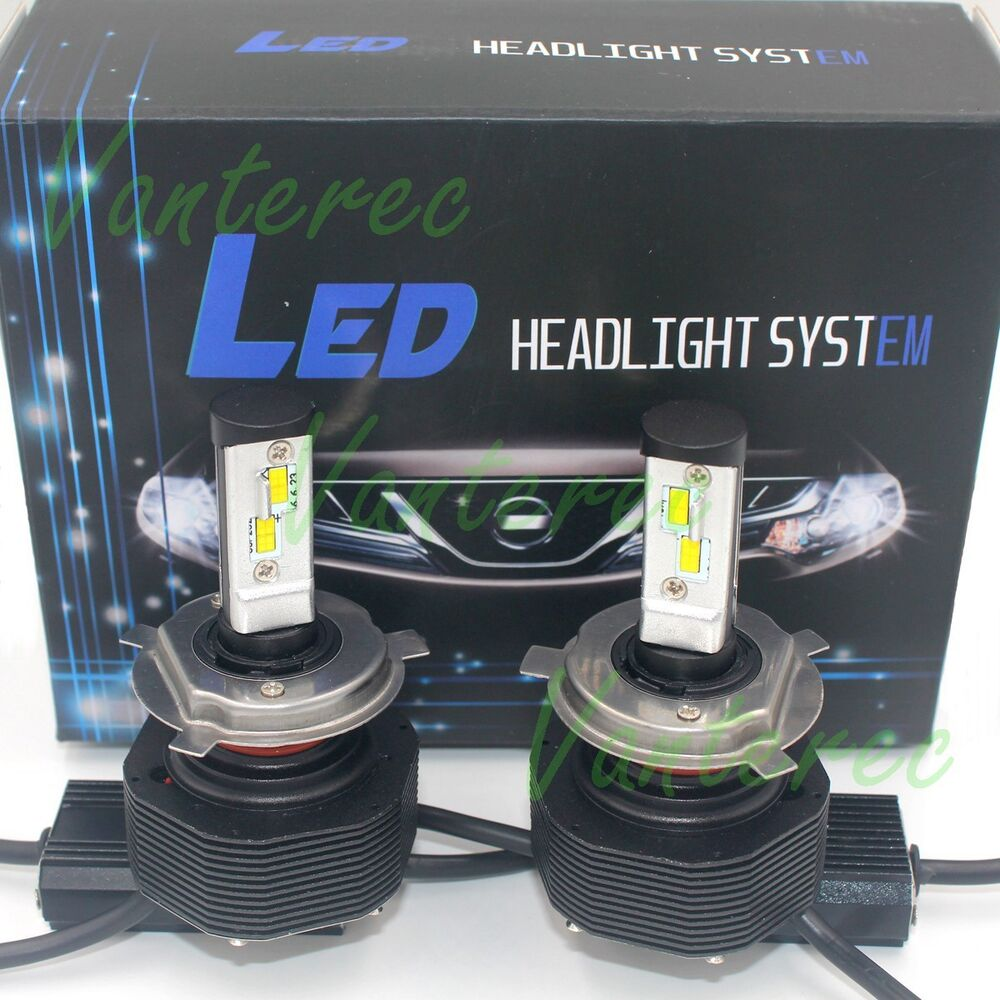h4 180w 18000lm cree led headlight kit hi low beam 6000k white bulbs pair power ebay. Black Bedroom Furniture Sets. Home Design Ideas