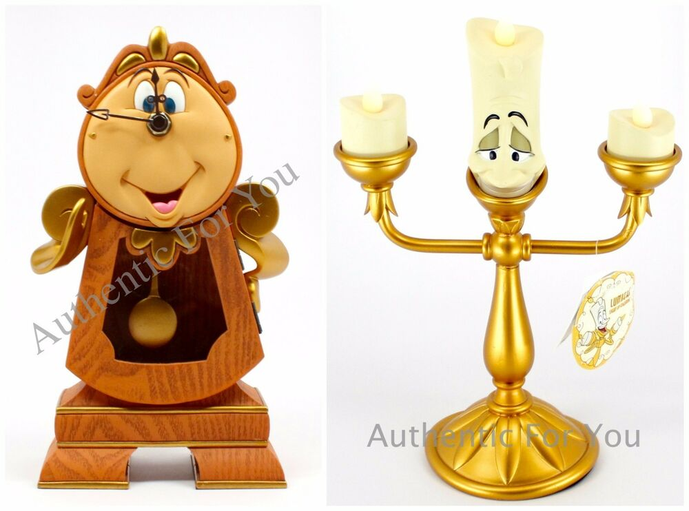 In Hand New Disney Parks Beauty Beast Cogsworth Clock
