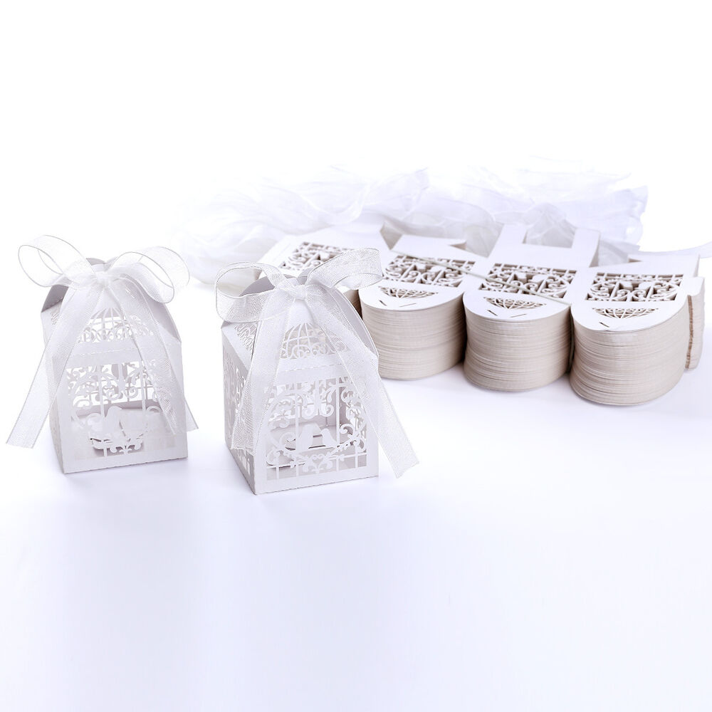 Wedding Favor Bags Under USD1 : ... Cut Bomboniere Boxes Wedding Favor Shower Candy Gifts Wrap eBay