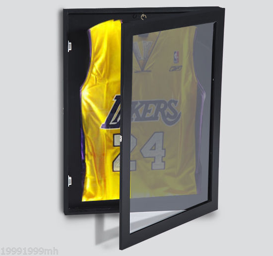 Homcom Jersey Frame Display Case Shirt Shadow Box Cabinet