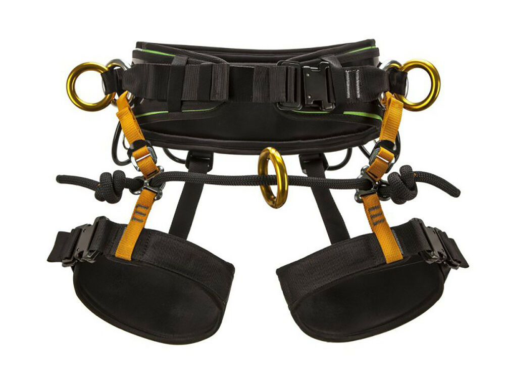 how to put on a harness rock climbing