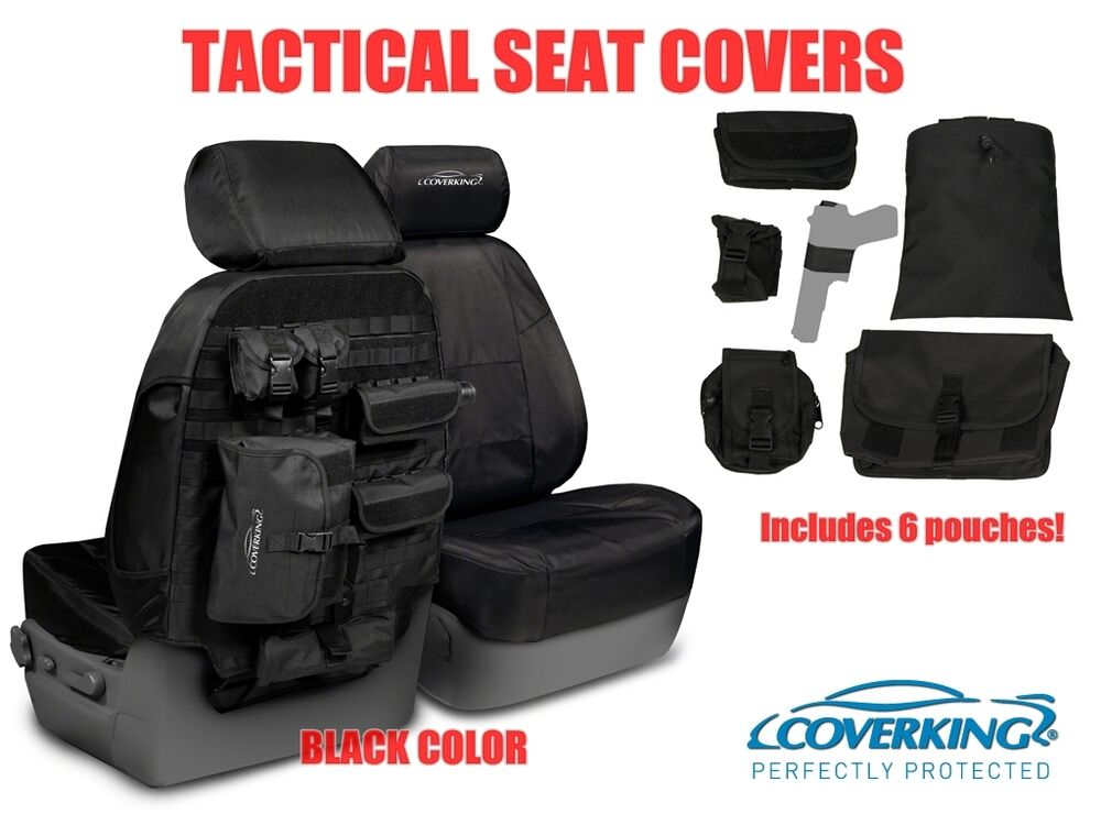 COVERKING TACTICAL MOLLE BLACK CUSTOM FIT SEAT COVERS For