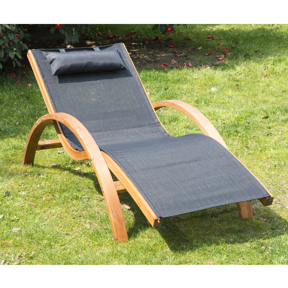 Outsunny outdoor mesh recliner reclining chair patio for Reclining patio chair