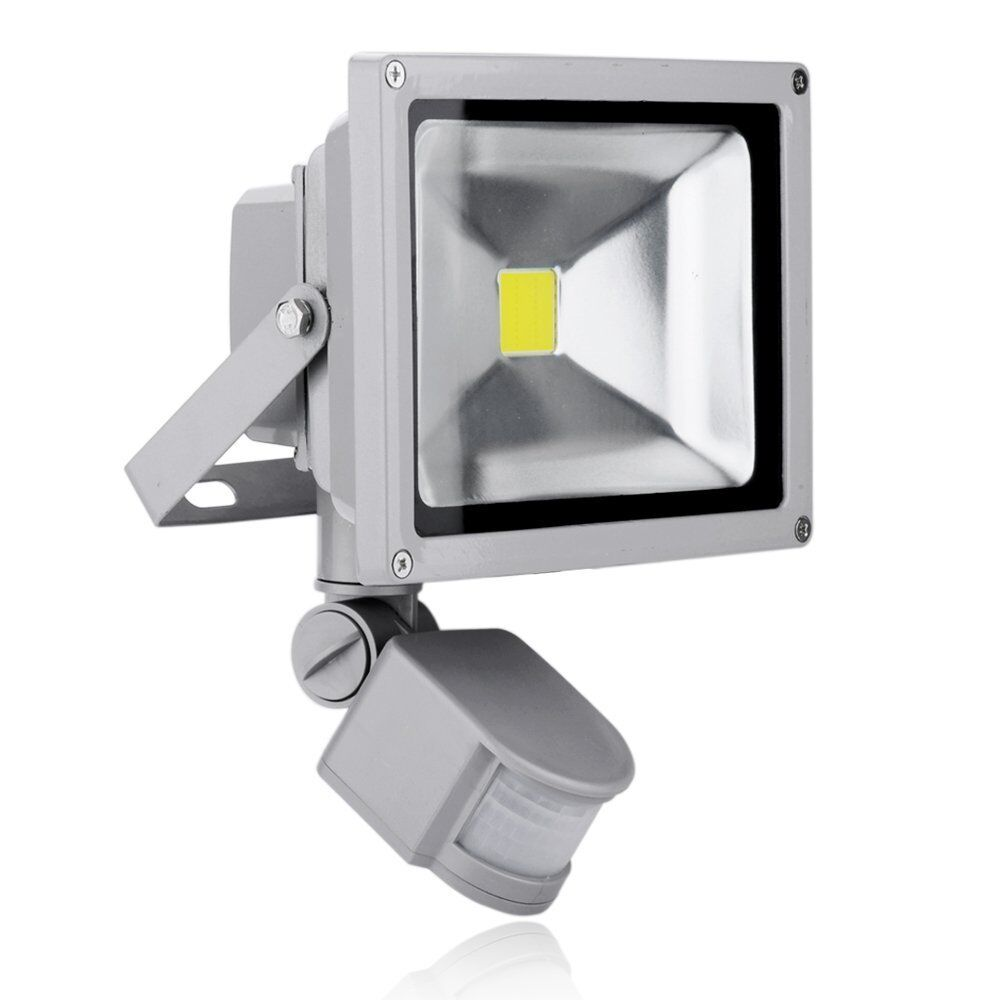 pir motion sensor led floodlight 10w 20w 30w 50w security flood light. Black Bedroom Furniture Sets. Home Design Ideas