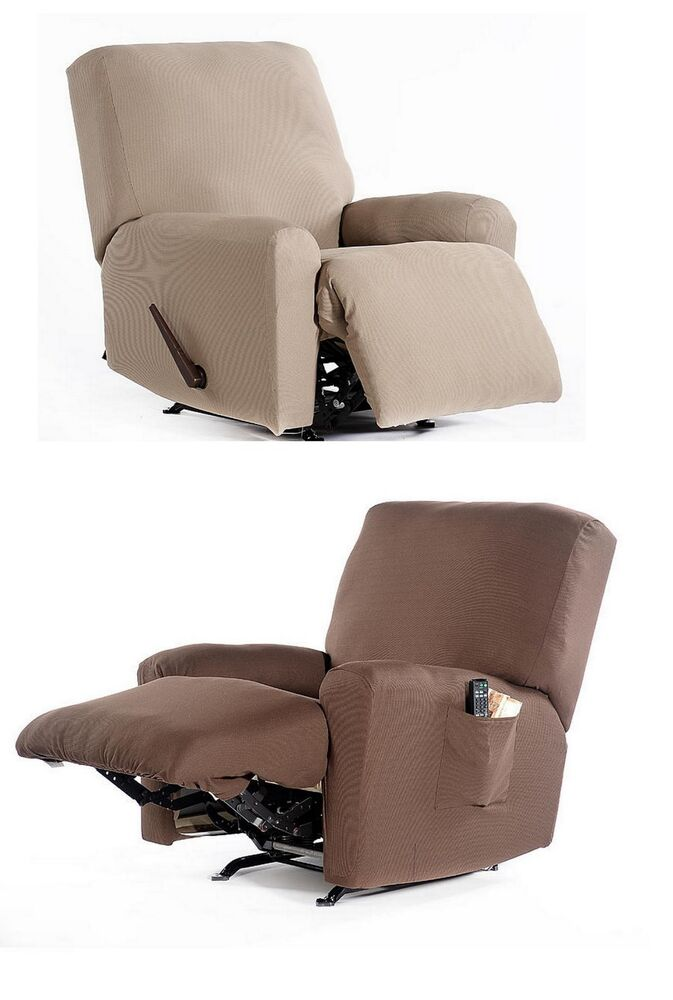 Recliner Chair Stretch Fabric Slip cover 4 piece Set  : s l1000 from www.ebay.com size 673 x 1000 jpeg 54kB
