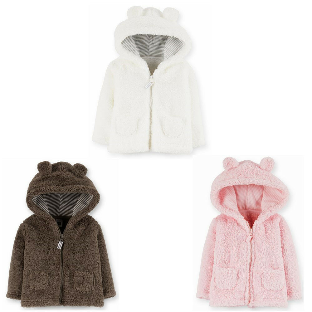 NWT Carters Baby boys girls Clothes Sherpa Hoodie Hooded ...