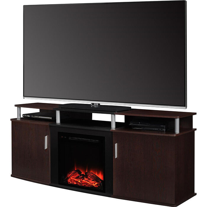 63 Electric Fireplace Media Entertainment Center Home Theater Tv Stand Heater Ebay