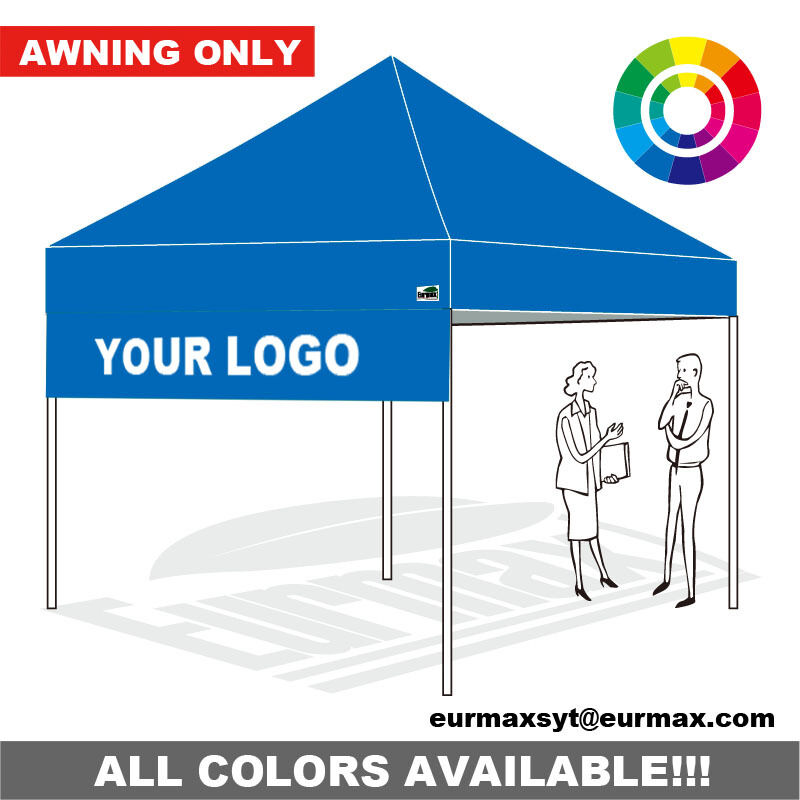 10x10 Custom Graphics Logo Printed Drop Down Awning For Ez