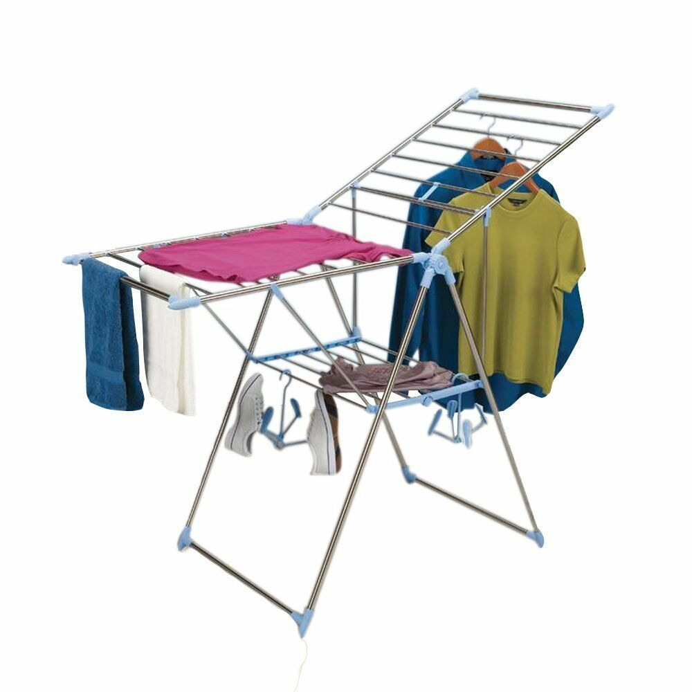 Clothes Drying Rack Foldable Laundry Room Hang Lay Flat ...