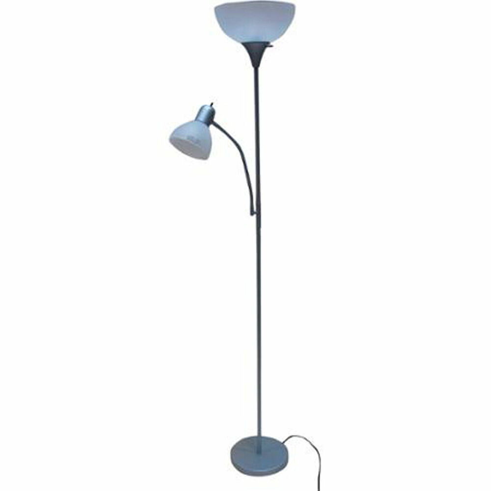 Combo floor lamp light office modern home decor reading for Combination floor lamp and reading lamp
