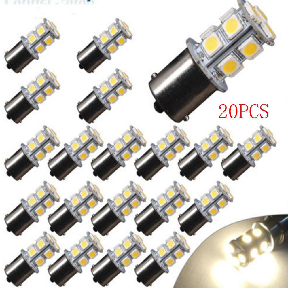 20x Cool White 1156 Led Rv Camper Trailer 1141 Interior Light Bulbs 13smd 12v Ou Ebay