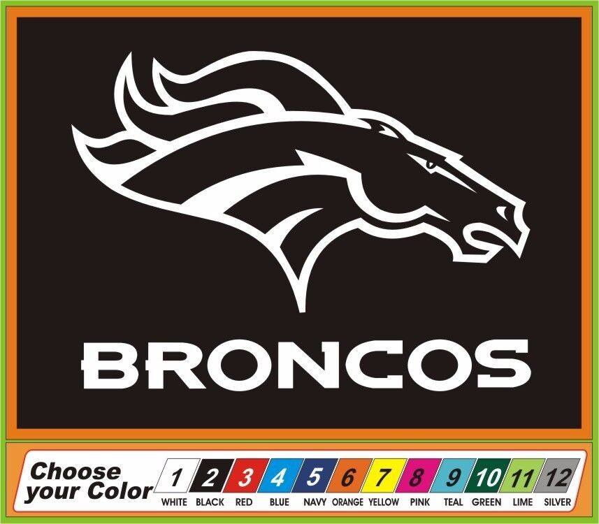 Nfl denver broncos vinyl decal sticker window car truck for Vinyl windows denver